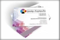 Дизайн визитки 48 - kwork.ru