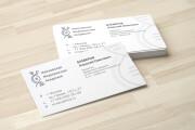 Дизайн визитки с исходниками 204 - kwork.ru