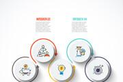 Набор инфографики. 13 тематик, 800 шаблонов, 2 пакета иконок 78 - kwork.ru