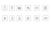 Нарисую векторные иконки для сайта, соц. сетей, приложения 32 - kwork.ru