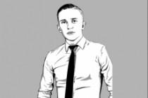 Качественный поп-арт портрет по вашей фотографии 100 - kwork.ru
