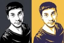 Качественный поп-арт портрет по вашей фотографии 88 - kwork.ru