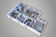 Сделаю 3д визуализацию плана для дома, квартиры 27 - kwork.ru