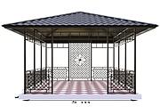 Сделаю 3d модель кованных лестниц, оград, перил, решеток, навесов 38 - kwork.ru