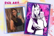 Нарисую портрет в стиле Pop Art,Comics Art, Stik Art 75 - kwork.ru