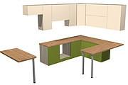Проект корпусной мебели, кухни. Визуализация мебели 112 - kwork.ru