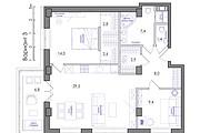 Планировка квартиры или жилого дома, перепланировка и визуализация 131 - kwork.ru