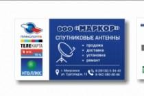 Дизайн визитки 209 - kwork.ru