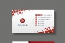 Дизайн визитки 165 - kwork.ru