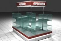 3D модель и визуализацию торгового места 84 - kwork.ru
