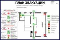 Нарисую эскиз плана эвакуации по ГОСТу 29 - kwork.ru