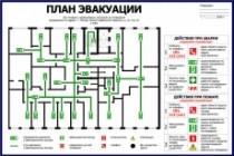 Нарисую эскиз плана эвакуации по ГОСТу 27 - kwork.ru