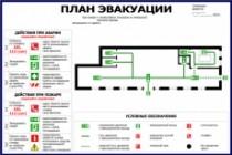 Нарисую эскиз плана эвакуации по ГОСТу 24 - kwork.ru