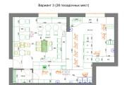 Планировочные решения. Планировка с мебелью и перепланировка 186 - kwork.ru