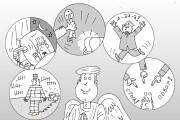 Оперативно нарисую юмористические иллюстрации для рекламной статьи 119 - kwork.ru