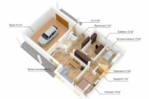 Сделаю 3д визуализацию плана для дома, квартиры 50 - kwork.ru