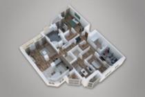 Сделаю 3д визуализацию плана для дома, квартиры 39 - kwork.ru