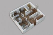 Сделаю 3д визуализацию плана для дома, квартиры 34 - kwork.ru