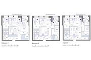 Планировка квартиры или жилого дома, перепланировка и визуализация 174 - kwork.ru