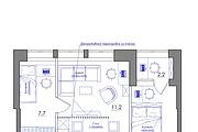 Планировка квартиры или жилого дома, перепланировка и визуализация 173 - kwork.ru