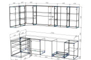 Проект корпусной мебели, кухни. Визуализация мебели 126 - kwork.ru
