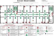 Начерчу план эвакуации, план помещения 9 - kwork.ru