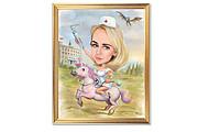 Дружеский шарж по фото, карикатура 52 - kwork.ru