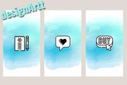 Создам 10 красивых обложек для вечных Instagram Stories 24 - kwork.ru