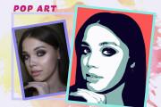 Нарисую портрет в стиле Pop Art,Comics Art, Stik Art 76 - kwork.ru