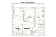 Планировочные решения. Планировка с мебелью и перепланировка 223 - kwork.ru