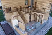 Фотореалистичная 3D визуализация экстерьера Вашего дома 339 - kwork.ru