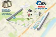 Красивая схема и карта проезда 22 - kwork.ru