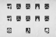 Иконки в уникальном стиле, для сайта и приложения Вашего Бренда 19 - kwork.ru