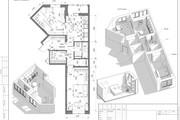 Разработка 3 вариантов планировки квартиры 30 - kwork.ru
