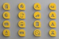 6 иконок в едином стиле 11 - kwork.ru