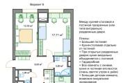 Планировочные решения. Планировка с мебелью и перепланировка 243 - kwork.ru
