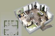 Объемно - планировочная схема, 3D 6 - kwork.ru