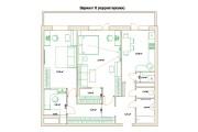 Планировочные решения. Планировка с мебелью и перепланировка 202 - kwork.ru