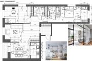 Разработка 3 вариантов планировки квартиры 42 - kwork.ru