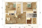 3Д план квартиры или дома 8 - kwork.ru