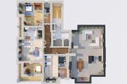 Создам планировку дома, квартиры с мебелью 95 - kwork.ru