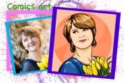 Нарисую портрет в стиле Pop Art,Comics Art, Stik Art 60 - kwork.ru