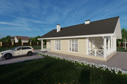Фотореалистичная 3D визуализация экстерьера Вашего дома 289 - kwork.ru