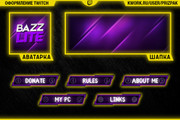 Оформление Twitch канала 142 - kwork.ru