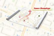 Красивая схема и карта проезда 24 - kwork.ru