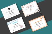 Дизайн сертификата, грамоты, диплома 7 - kwork.ru