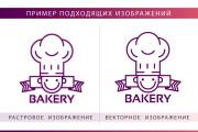 Вектор. Отрисовка в векторе простых эскизов, иконок, логотипов, растра 13 - kwork.ru