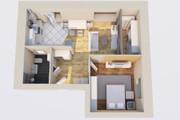 Создам планировку дома, квартиры с мебелью 135 - kwork.ru