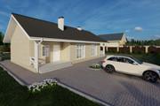 Фотореалистичная 3D визуализация экстерьера Вашего дома 288 - kwork.ru