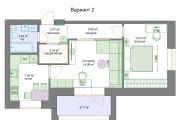 Планировочные решения. Планировка с мебелью и перепланировка 128 - kwork.ru